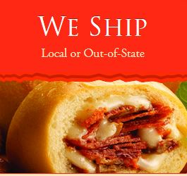 Kolache Factory shipping advertisement