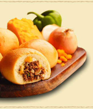 A quick & meaty meal-in-a-minute from the Kolache Factory
