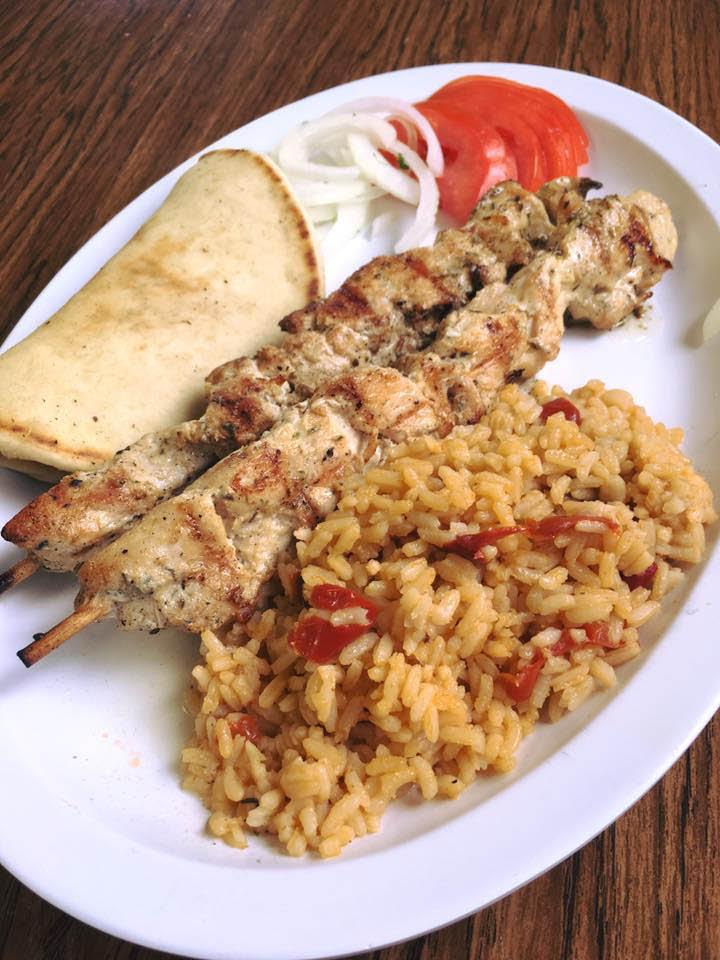 Authentic Chicken Souvlaki at Kostene's Grill.