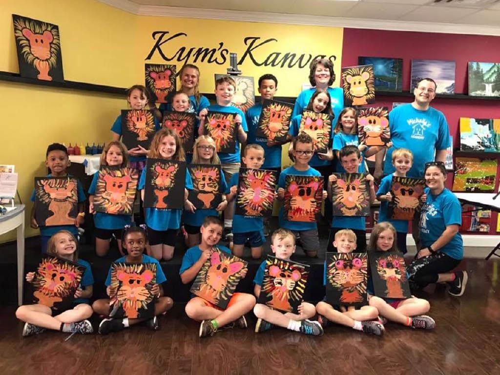 Kym's Kanvas kids painting class