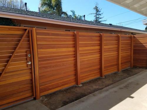 Wood fence by La Fence Craft