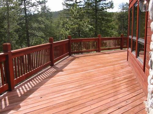 Wood deck installation by La Fence Craft