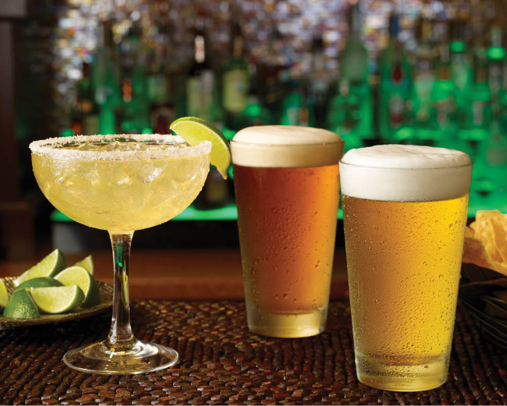 Have an icy cold brew or a Margarita from our full bar