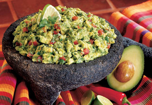 Fresh Mexican style guacamole