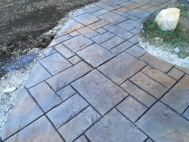 Waukesha stamped and colored Concrete contractor and installer