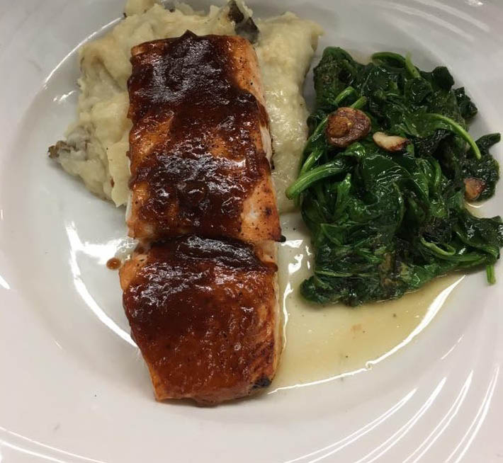 Irish Whiskey Salmon from The Lake House in Hopatcong NJ