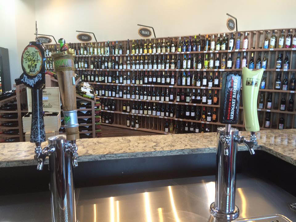 Lakefront Fine Wine and Spirits in frederick md has 4 different draft beers are that changed frequently.