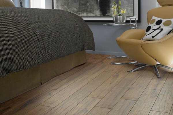 Laminate wood flooring is resilient against stains and scuffs
