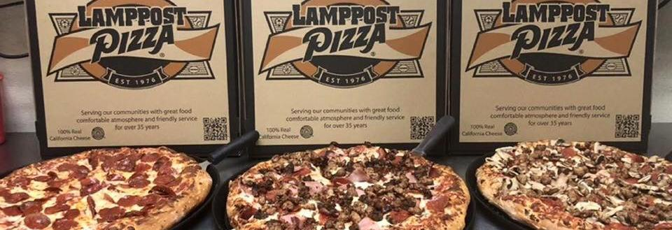 Lamppost Pizza logo in Yorba Linda, CA pizza coupons near me