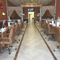 Beautiful interior of clean nail salon and spa in Hummelstown, PA