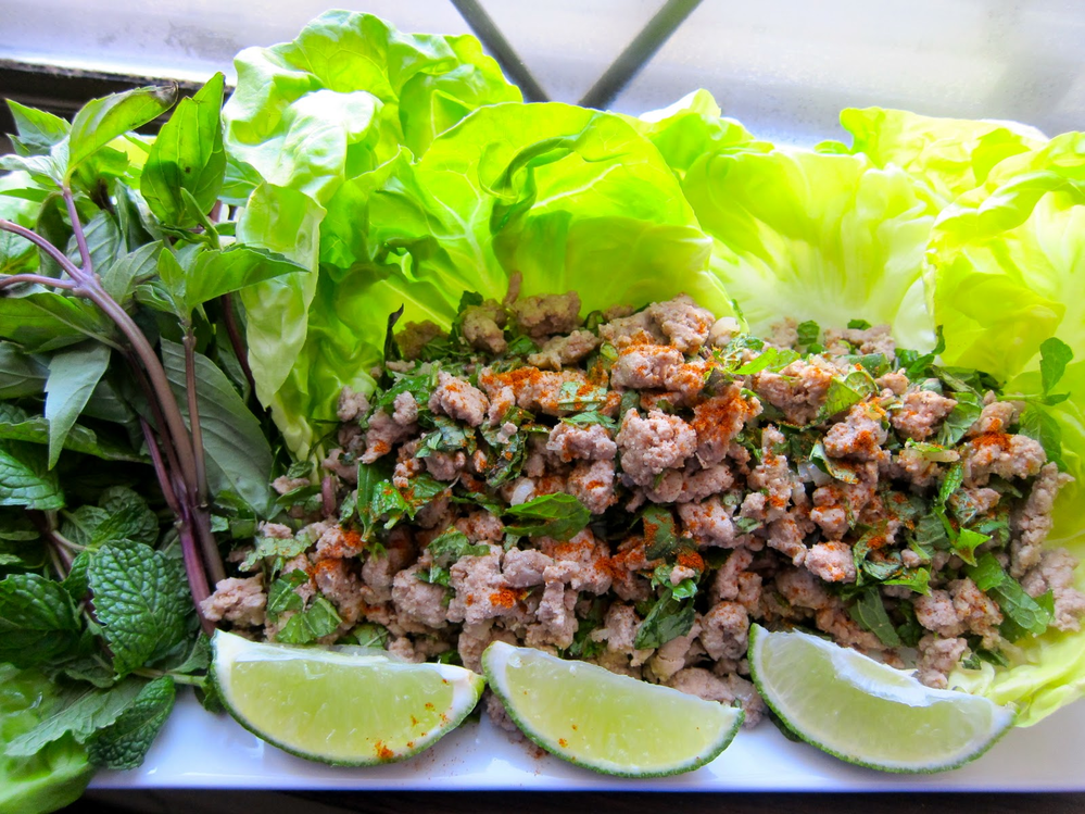 Larb Gai at Thai Pot in Santa Rosa, CA