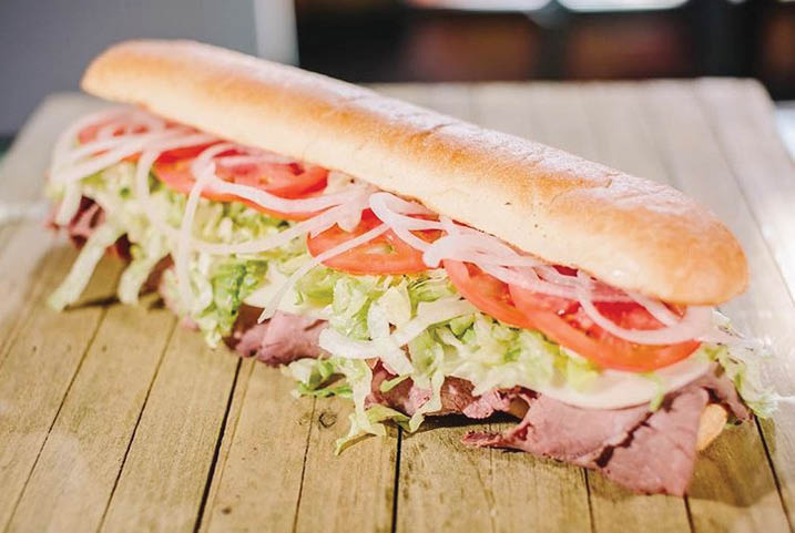 Custom cold sub with Larry's famous Italian dressing