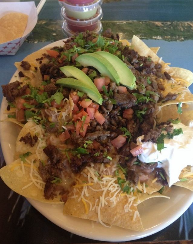 Get nachos or a taco salad at Mexican restaurant near Santa Clarita