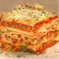 Homemade Italian lasagna at Melo's Italian Restaurant Danville, CA