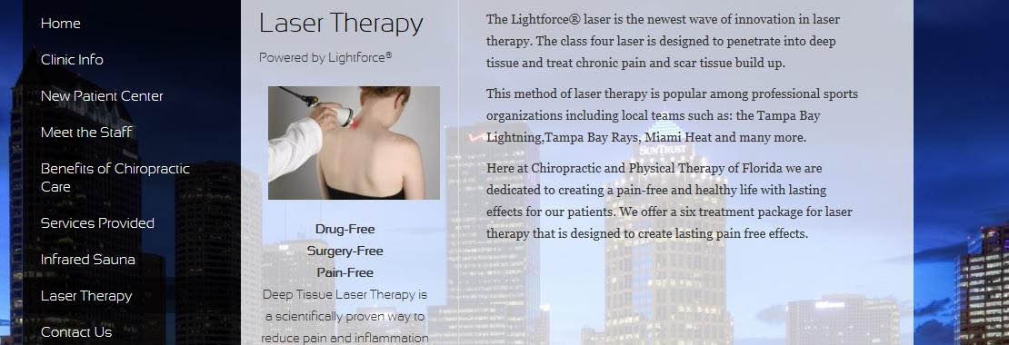 LASER THERAPY CENTERS OF FLORIDA, BANNER