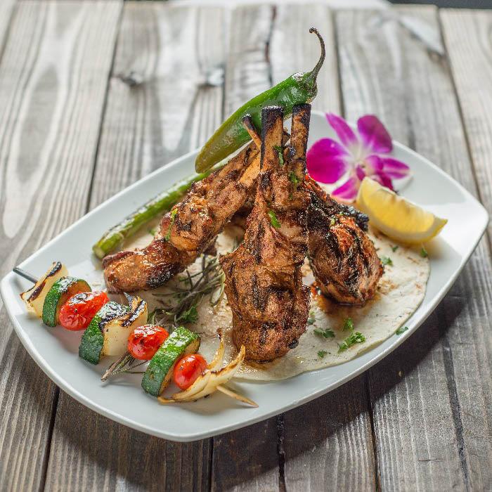 Beautifully plated lamb chops