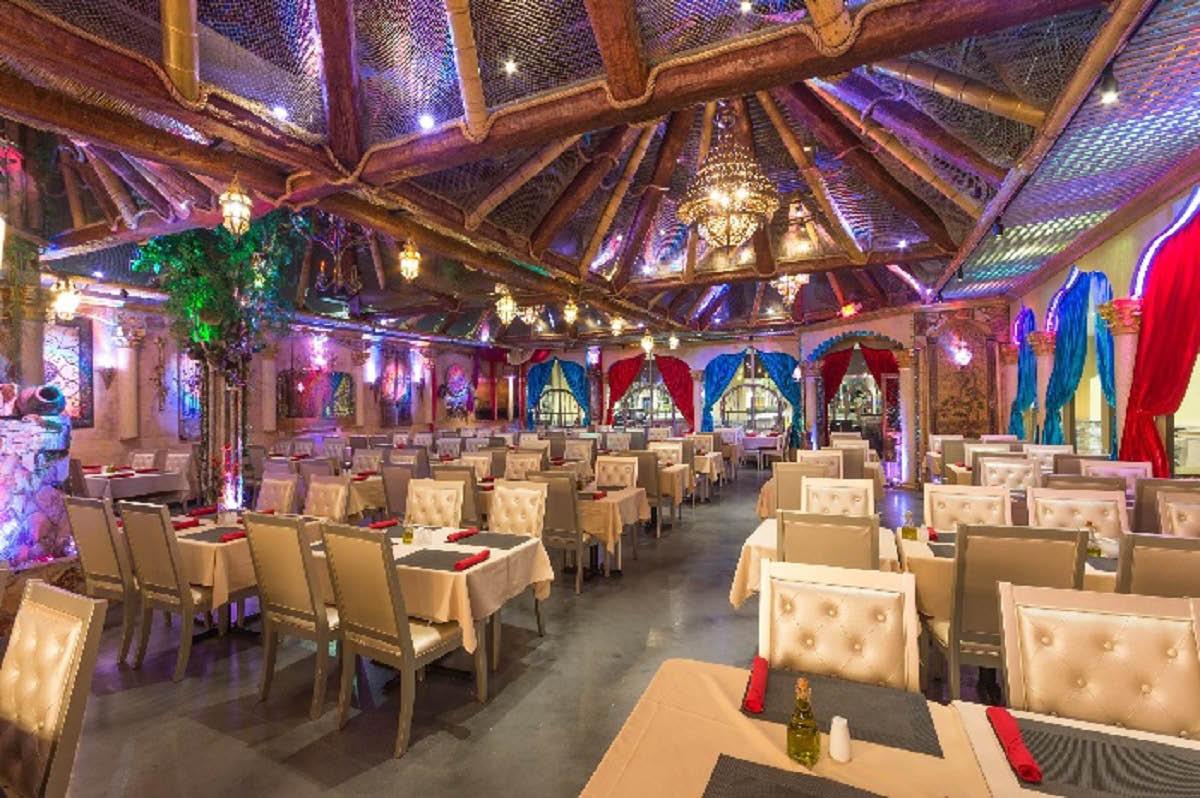 Interior of La Vie Lebanese Restaurant in Pompano Beach, FL