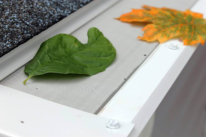 Leaf Filter protects gutters against leaves