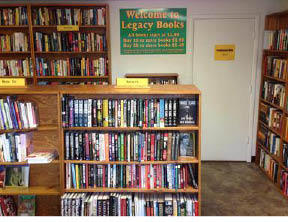 Perfect place to find a book at Legacy Books in Hackettstown NJ
