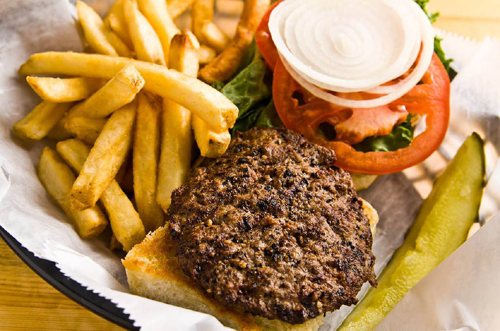 The best burgers are at Leo's Lodge in Lansing, MI