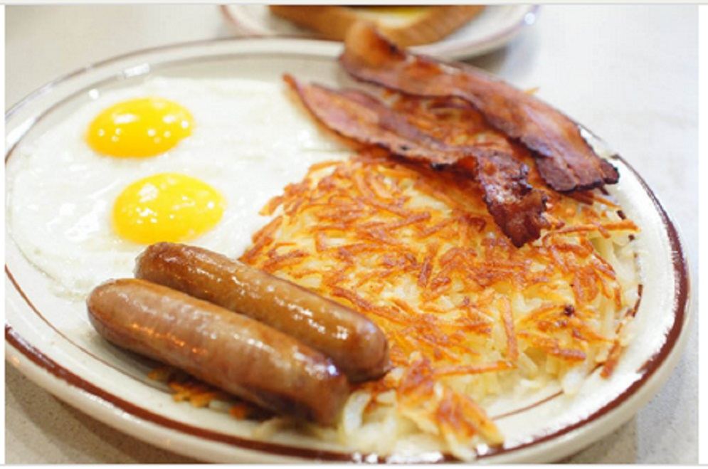 Picture of breakfast food served at Leo's Coney Island, Roseville, MI