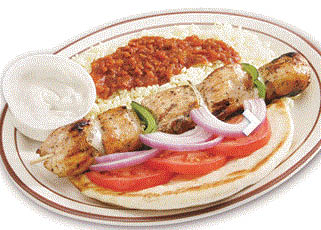 Picture of kabob dinner at Leo's Coney Island in Canton, MI