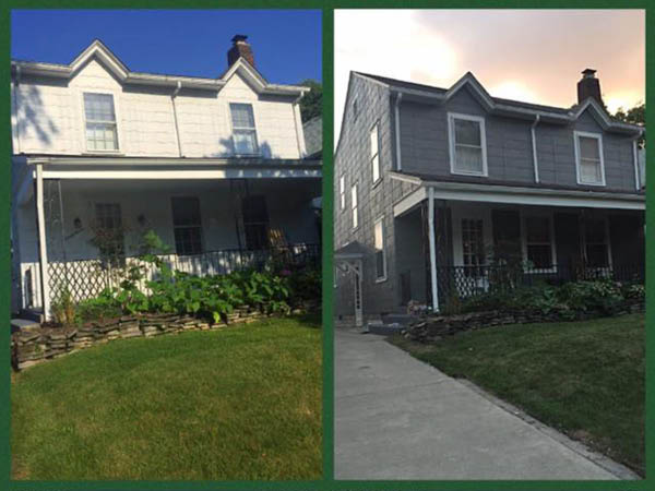 LeVay Painting Co before and after house painting