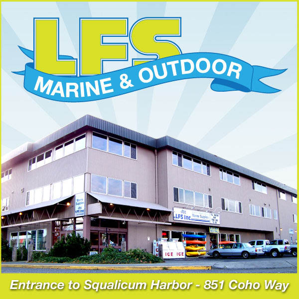 LFS Marine & Outdoor store front in Squalicum Harbor, Bellingham.