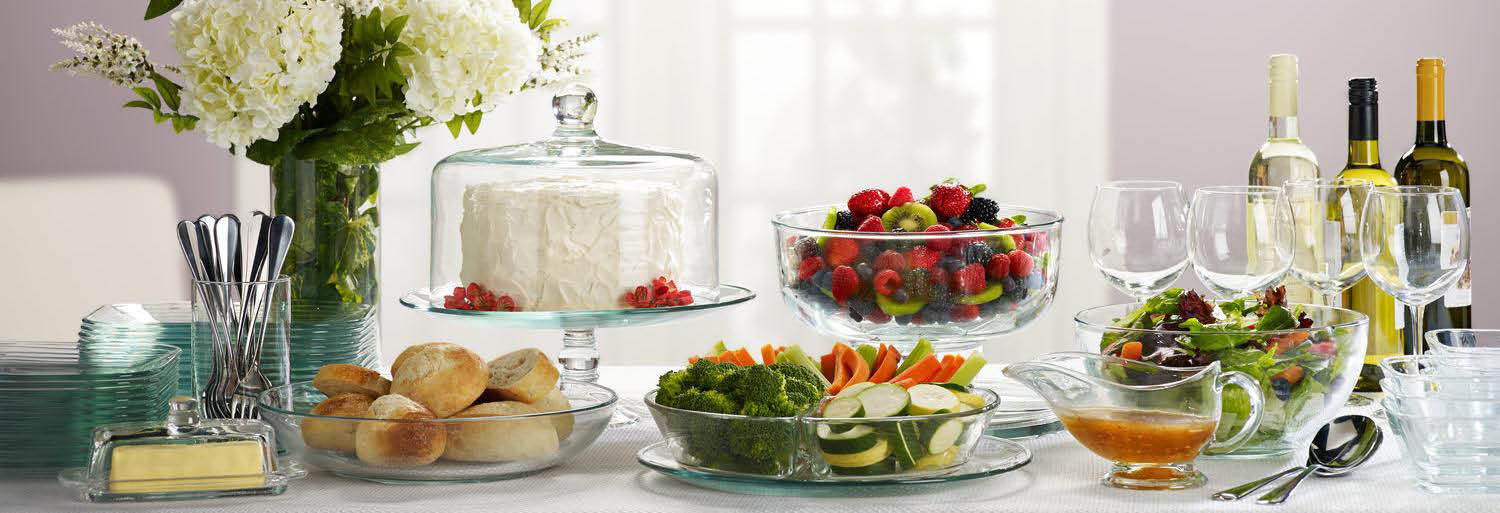 Libbey glassware party dishes