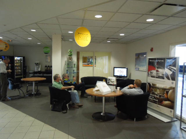 Our comfortable waiting room at Liberty Auto Plaza