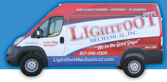 service van with Lightfoot Mechanical in Weatherford, TX