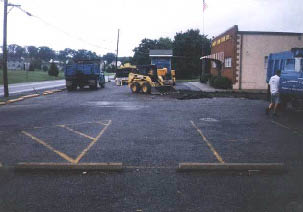 Parking lot in need of line striping