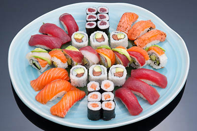 Hand rolled sushi Lin's Garden restaurant coupon code Rochester NY