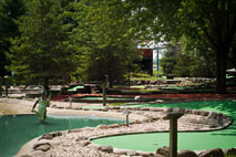 Grab a par-tner and test your skill on our 18-hole miniature golf course