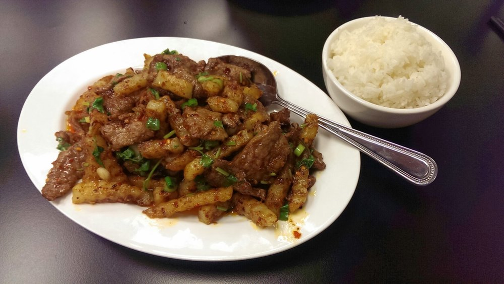 Spiced beef Szechuan-style and delicious