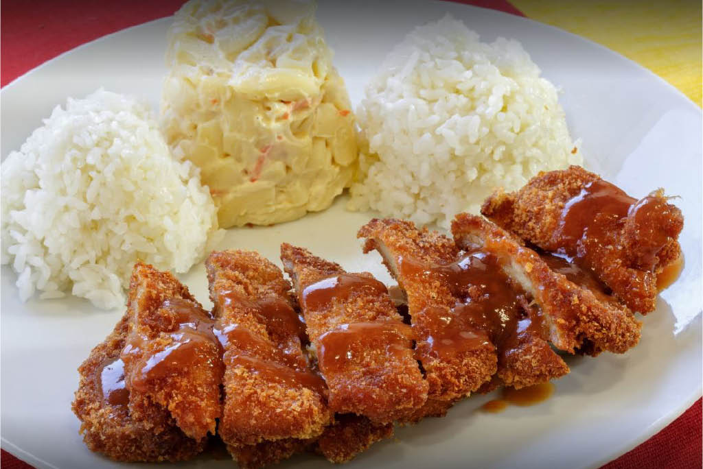 barbecue chicken lunch plate at L & L Hawaiian Barbecue in Kapolei, HI