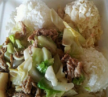 Hot lunch near Honolulu International Airport