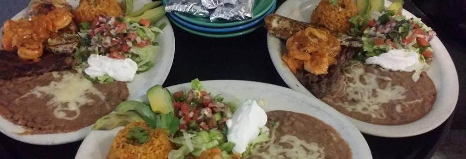 Meals with refried beans at Los Cabos Banner Ad