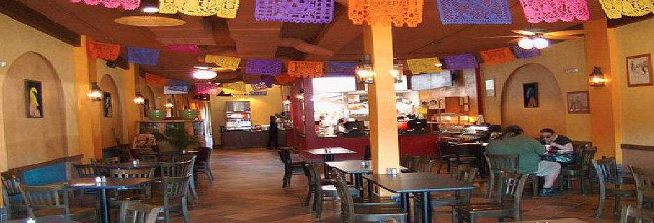 photo of festive interior of Los Galanes Taqueria in Dearborn, MI