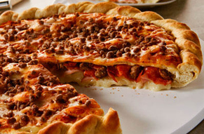 louisville pizza Papa Murphy's stuffed pizza with cheese pepperoni, and sausage made fresh daily