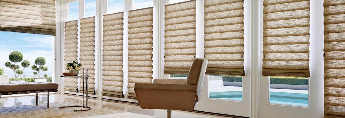 Vignette Modern Roman Shades by Hunter Douglas enhance any room