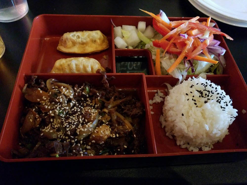 chicken wings, korean, tofu, japchae, katsu, bulgogi; Arlington, va
