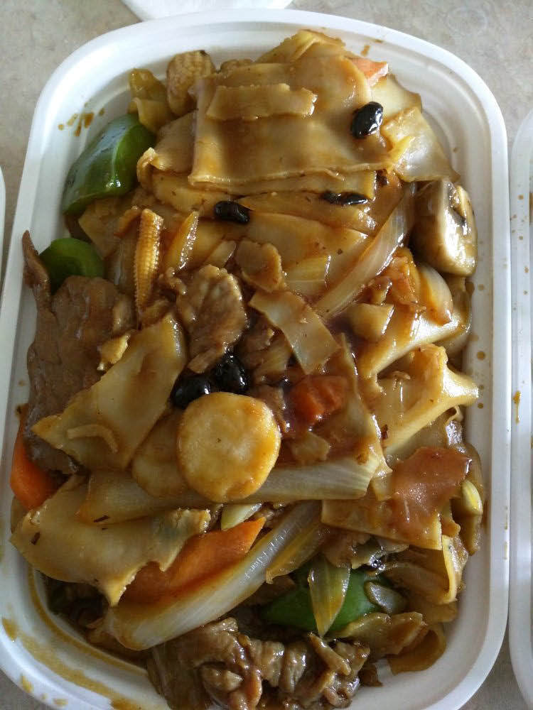 Lychee lunch special with Chinese vegetables