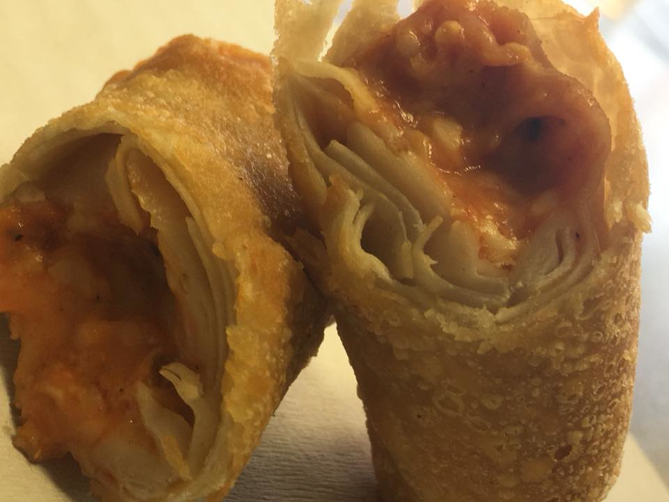 Delicious order of egg rolls