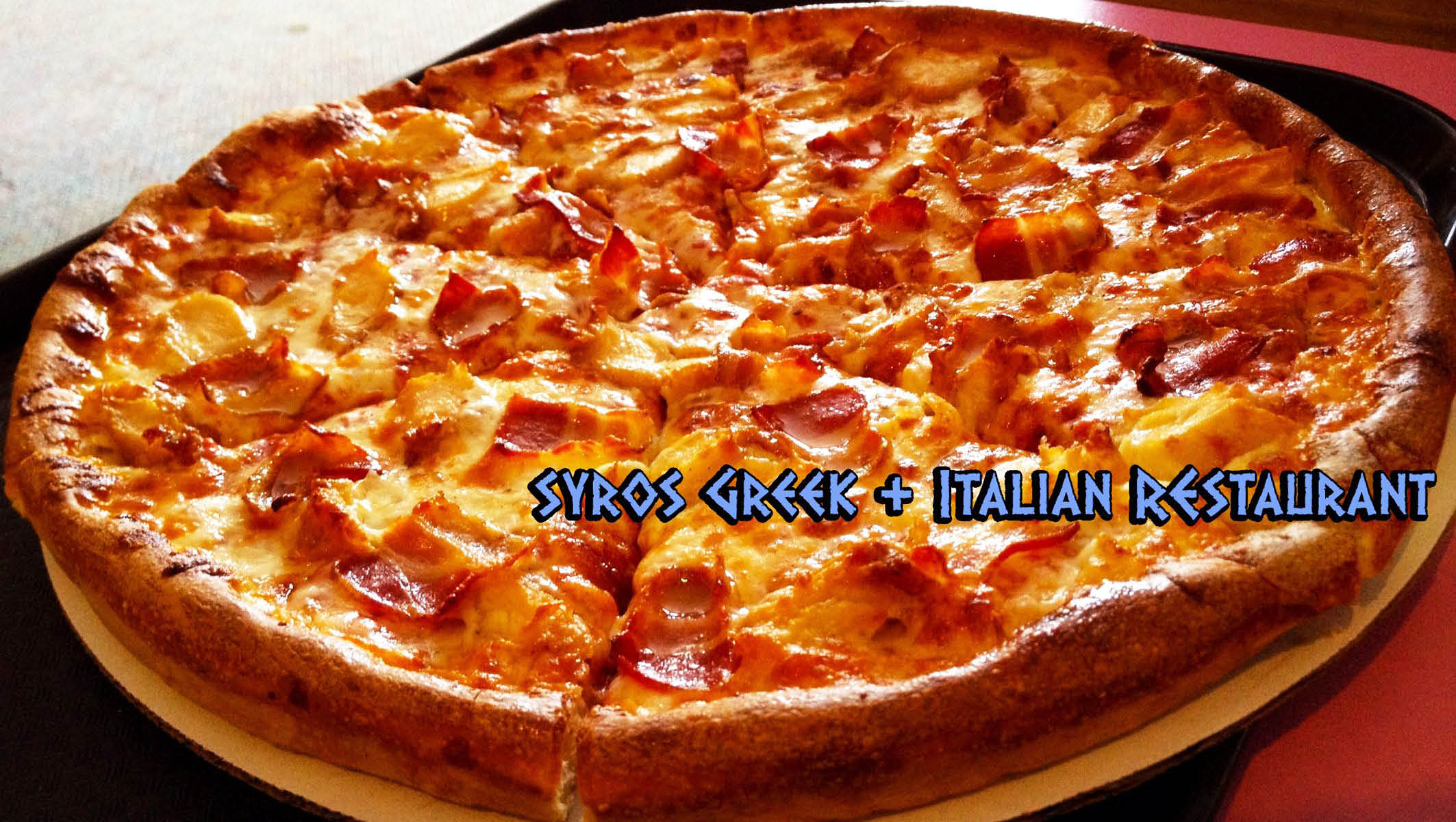 Syros Greek and Italian Restaurant pizza