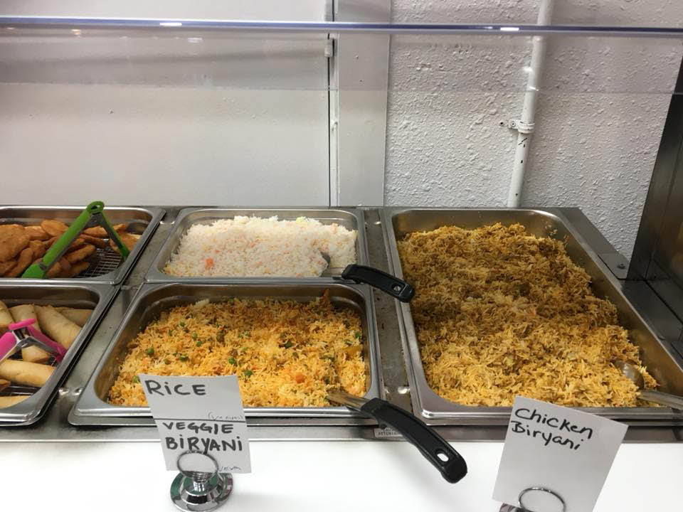Indian buffet, lunch specials