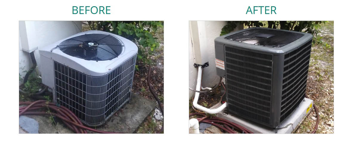 MOUNTAIN AIR SERVICES BEFORE AND AFTER INSTALLATION PHOTO