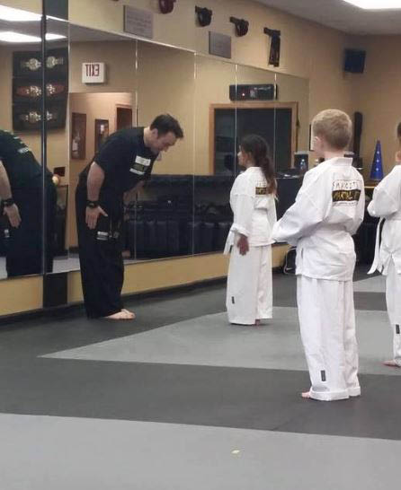 young students learning kung fu and tai kwan do in Madison, WI