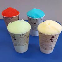 4 cups and different flavors of Italian ice from Maggie's Italian ice in Mechanicsburg.