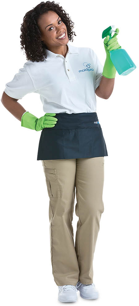 cleaning professional at work for MaidPro in Gurnee, IL; cleaning service coupons